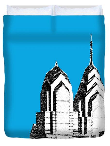 Philadelphia Skyline Liberty Place 1 - Ice Blue Duvet Cover