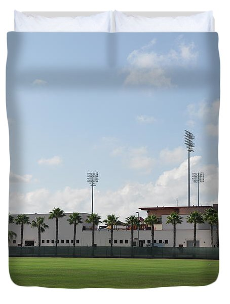 Phillies Brighthouse Stadium Clearwater Florida Duvet Cover by Bill Cannon