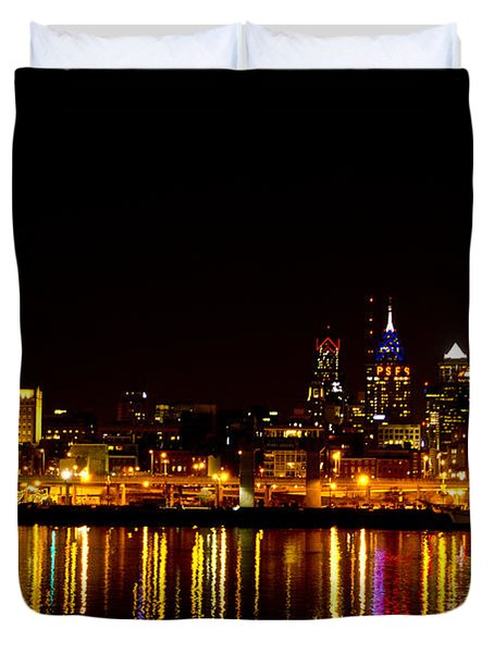 Philly Nights Duvet Cover by Bill Cannon