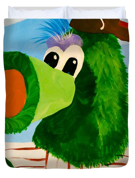 Philly Phanatic Duvet Cover by Trish Tritz