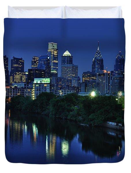 Philly Skyline Duvet Cover