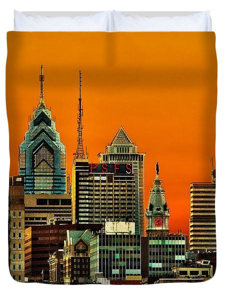 Philly Sunset Duvet Cover