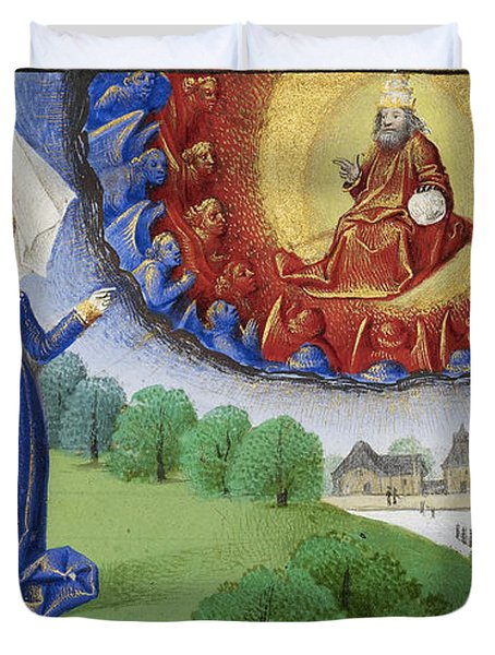 Philosophy Instructs Boethius On God Duvet Cover