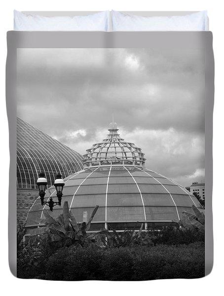 Phipps Conservatory Bw Duvet Cover by Joyce  Wasser