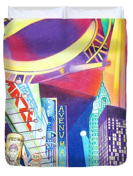 Phish New Years In New York Left Panel Duvet Cover by Joshua Morton