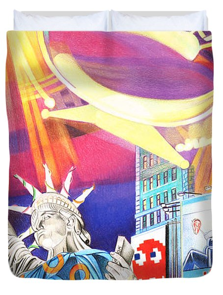 Phish New Years In New York Right Panel Duvet Cover by Joshua Morton