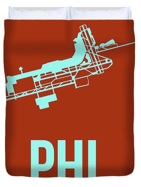 Phl Philadelphia Airport Poster 2 Duvet Cover by Naxart Studio