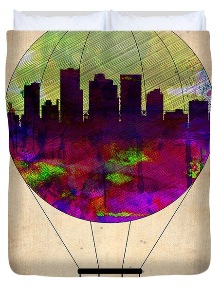 Phoenix Air Balloon  Duvet Cover by Naxart Studio