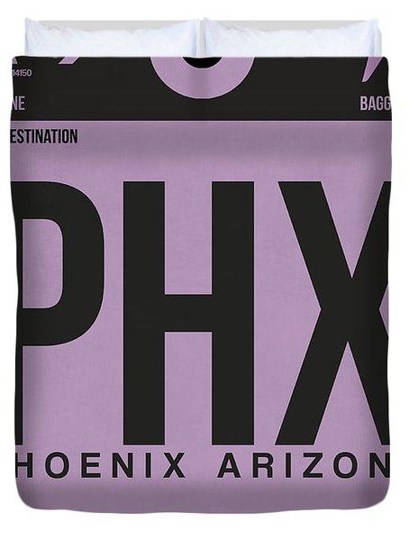 Phoenix Airport Poster 1 Duvet Cover by Naxart Studio
