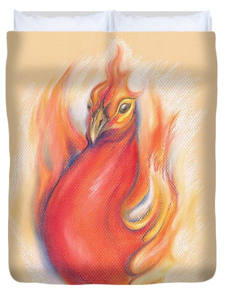Phoenix In The Flames Duvet Cover