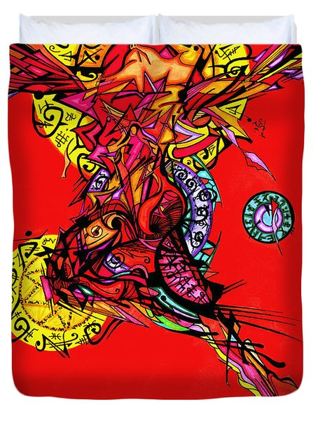 Phoenix Woman  Duvet Cover