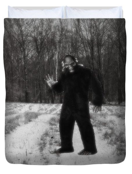 Photographic Evidence Of Big Foot Duvet Cover by Edward Fielding