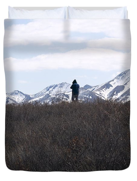 Photographing Nature   Duvet Cover
