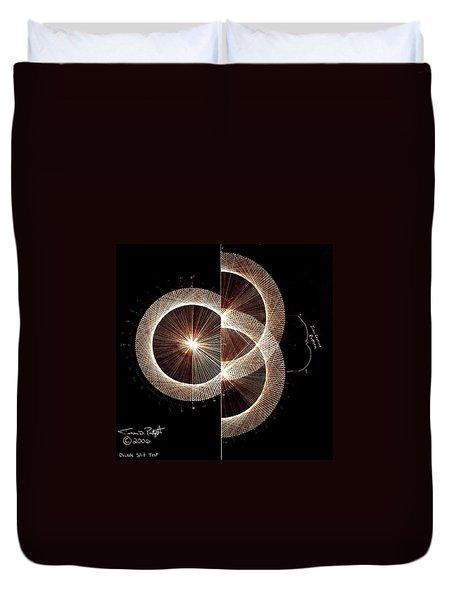Photon Double Slit Test Hand Drawn Duvet Cover