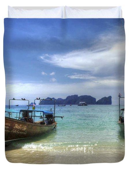 Phuket Koh Phi Phi Island Duvet Cover by Bob Christopher