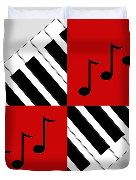 Piano Abstract 3 Duvet Cover by Andee Design
