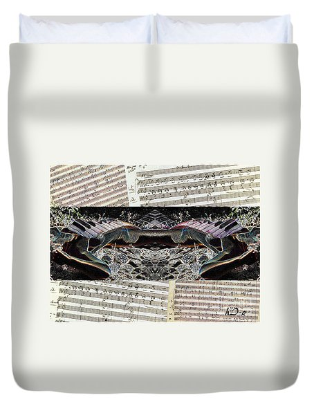 Piano Barojazz Scores Duvet Cover by Ha Imako