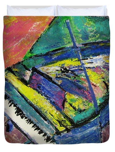Piano Blue Duvet Cover