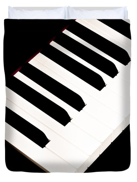 Piano Duvet Cover by Bob Orsillo