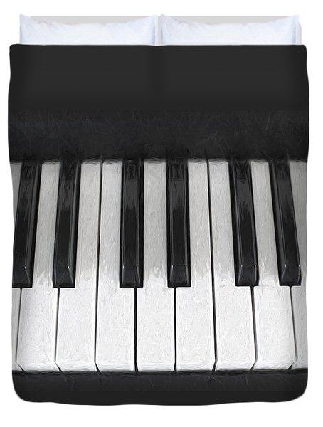 Piano Keys Digital Artwork Duvet Cover