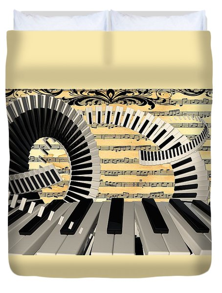 Piano Keys  Duvet Cover