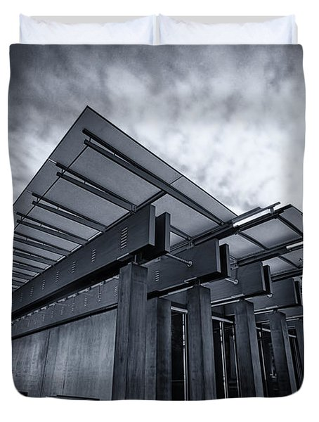 Piano Pavilion Bw Duvet Cover by Joan Carroll