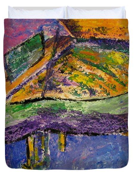 Piano Purple Duvet Cover