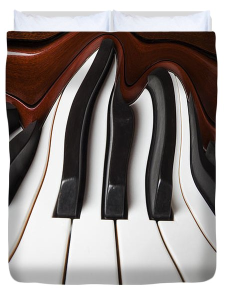 Piano Wave Duvet Cover