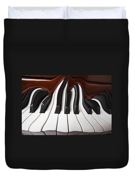Piano Wave Duvet Cover by Garry Gay