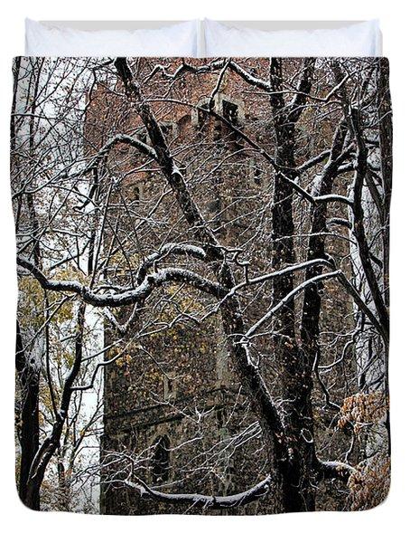 Piastowska Tower In Cieszyn Duvet Cover