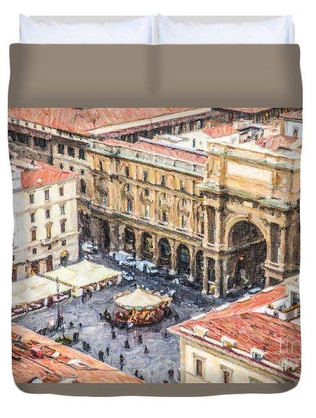 Piazza Della Repubblica Duvet Cover