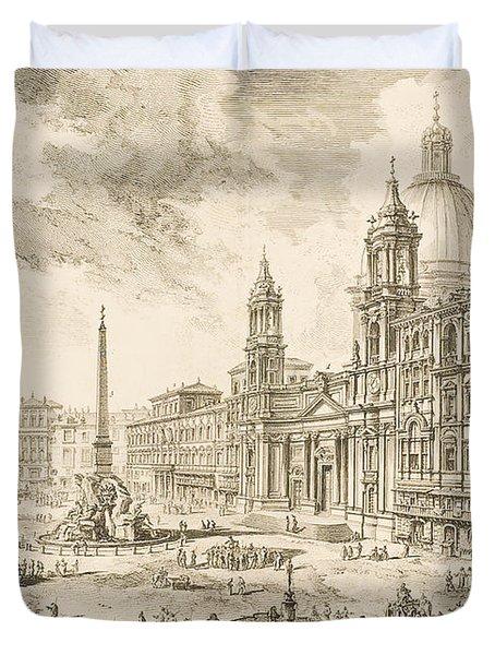 Piazza Navona Duvet Cover
