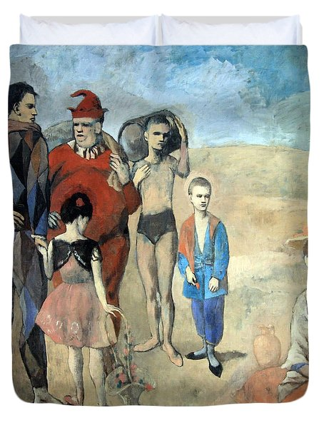Picasso's Family Of Saltimbanques Duvet Cover