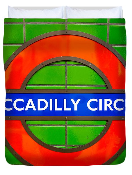 Duvet Cover featuring the photograph Piccadilly Circus Tube Station by Luciano Mortula
