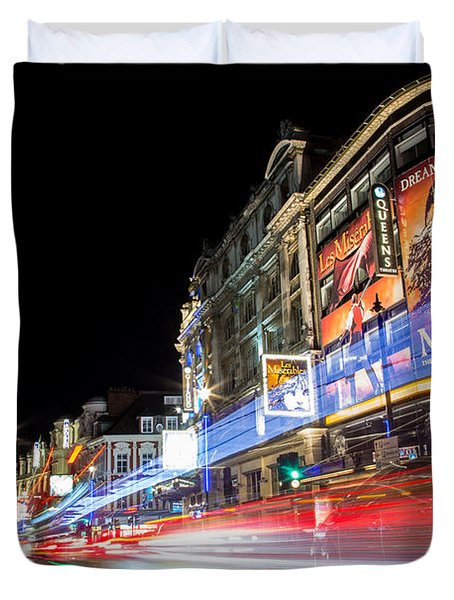A Night In The West End Duvet Cover
