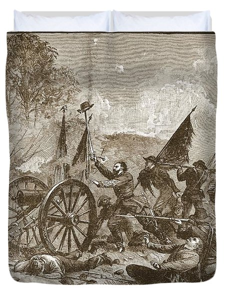 Picketts Charge At Gettysburg Duvet Cover