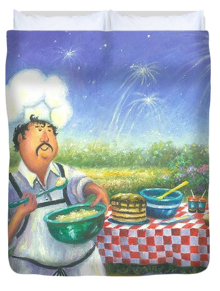 Picnic Chef Duvet Cover by Vickie Wade