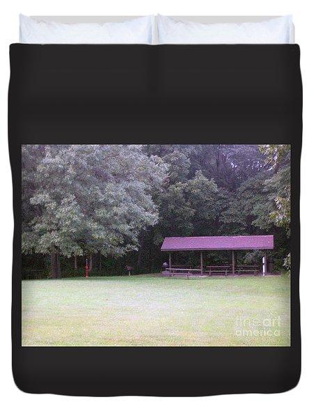 Picnic Shelter Duvet Cover