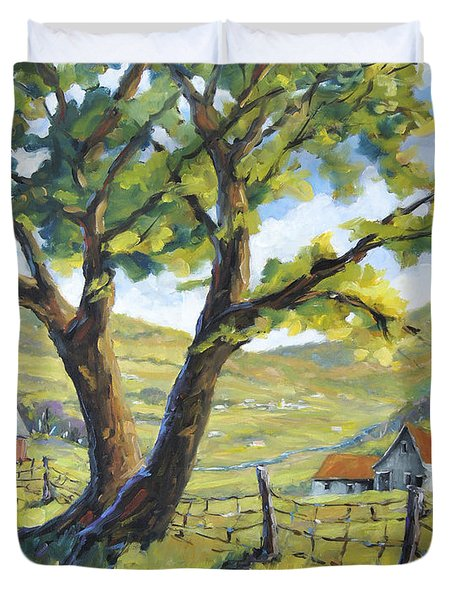 Picnic With A View By Prankearts Duvet Cover