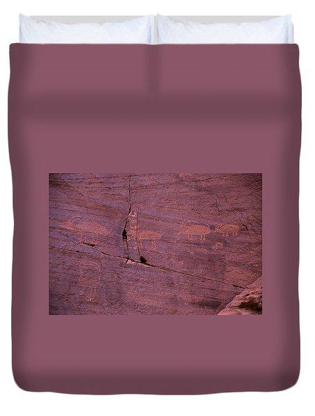 Pictograph Cave Art Duvet Cover