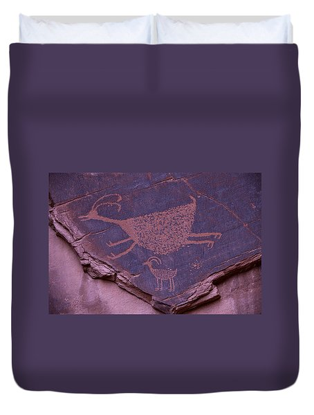 Pictograph Monument Valley Duvet Cover