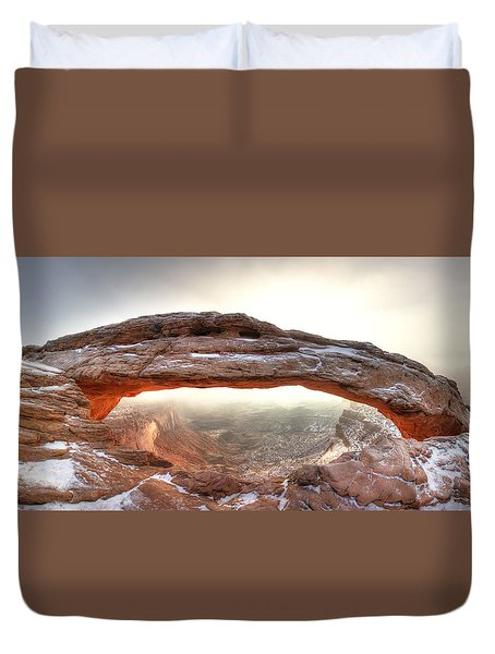 Duvet Cover featuring the photograph Picture Window by David Andersen