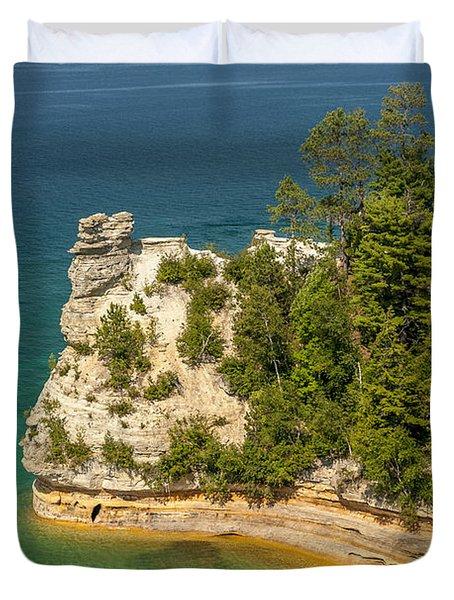 Pictured Rocks National Lakeshore Duvet Cover