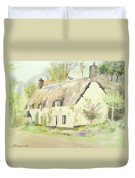 Picturesque Dunster Cottage Duvet Cover