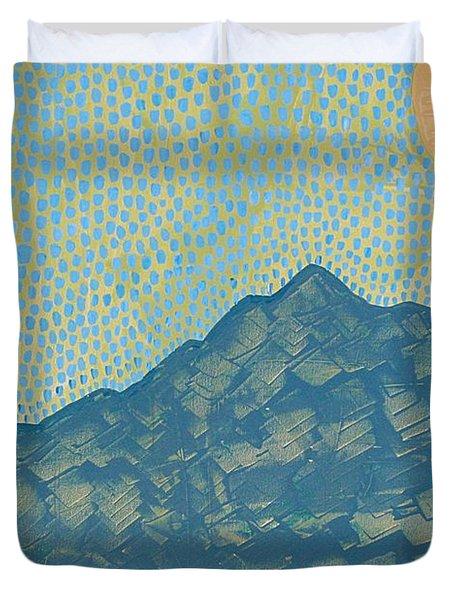 Picuris Mountains Original Painting Duvet Cover by Sol Luckman