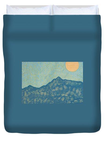 Picuris Mountains Original Painting Duvet Cover