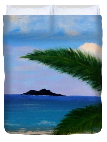 Piece Of Heaven Duvet Cover by Elena  Constantinescu