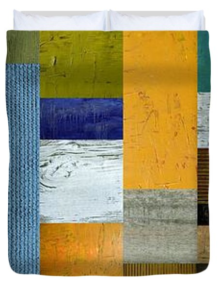 Pieces Parts Lv Duvet Cover by Michelle Calkins