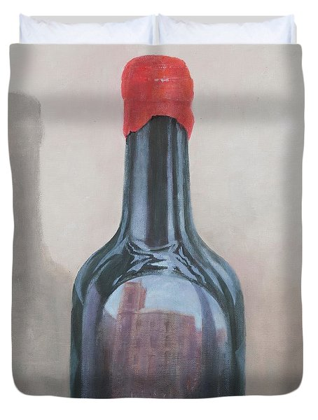 Pienza Reflection Duvet Cover by Lincoln Seligman