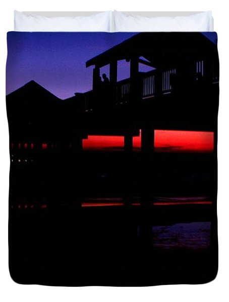Duvet Cover featuring the photograph Pier 60 In After Glow 2 by Richard Zentner